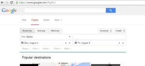 Google Flight Seach