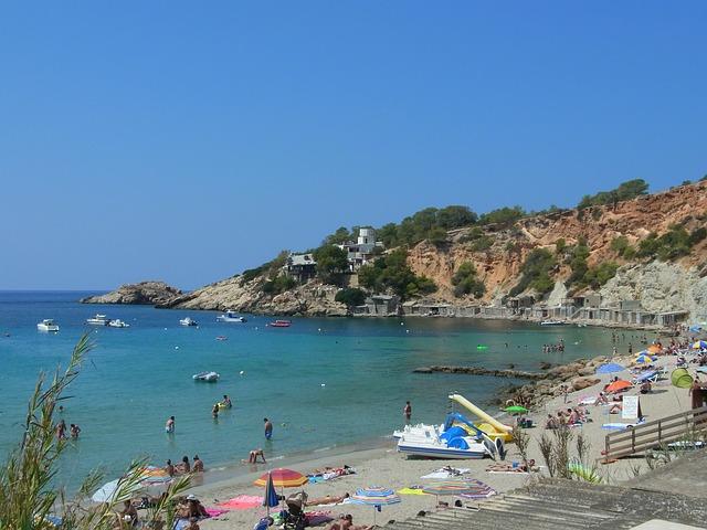 Ibiza Island Spain Mediterranean Beach