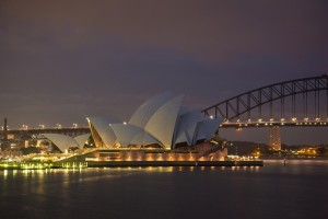 Sydney Opera House Harbour Bridge Sydney Australia