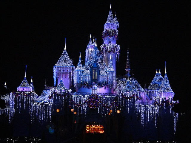 Disneyland California in December
