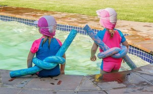Summer Vacation - Children on the Pool