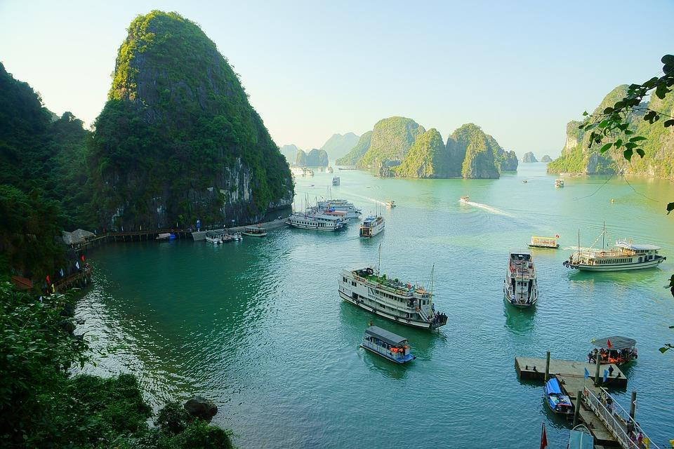Halong Bay is one of Top 7 Tourist Attractions and Cities in Vietnam