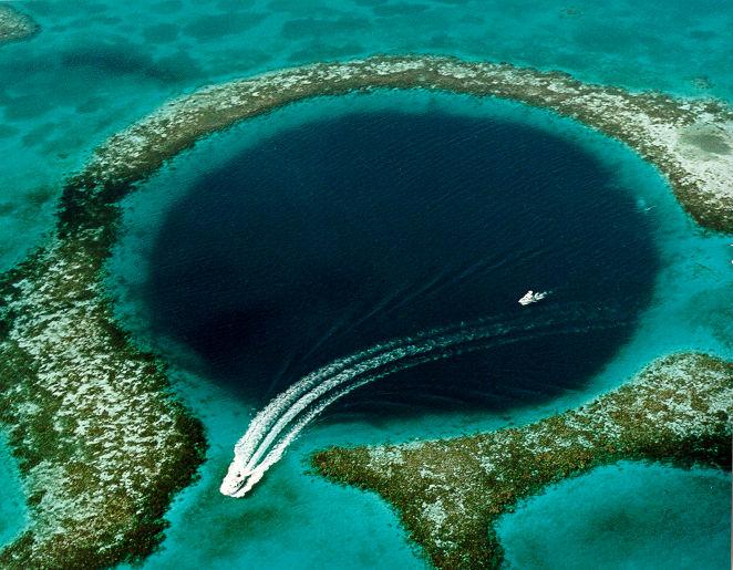 Half-moon caye Great Blue Hole