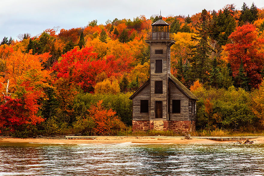 Grand Island East Channel Light House, Michigan, USA
