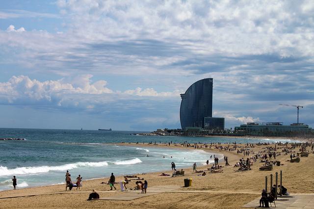Strandabschnitt in Barcelona.