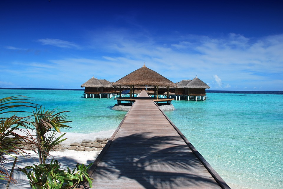 Maldives beach honeymoon