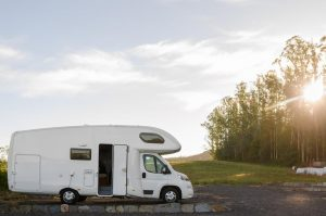 Travel through Europe by motor home